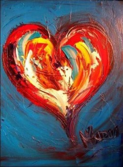 oil painting hearts | http://lomets.com