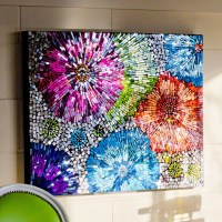 mosaic flower wall | http://lomets.com