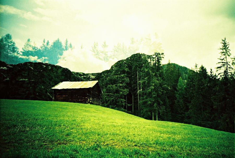 Doppelbelichtung in den Bergen