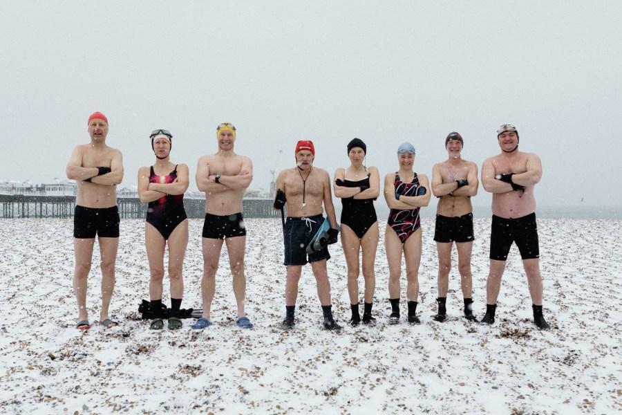 Hardy men & woman of Brighton Swimming Club