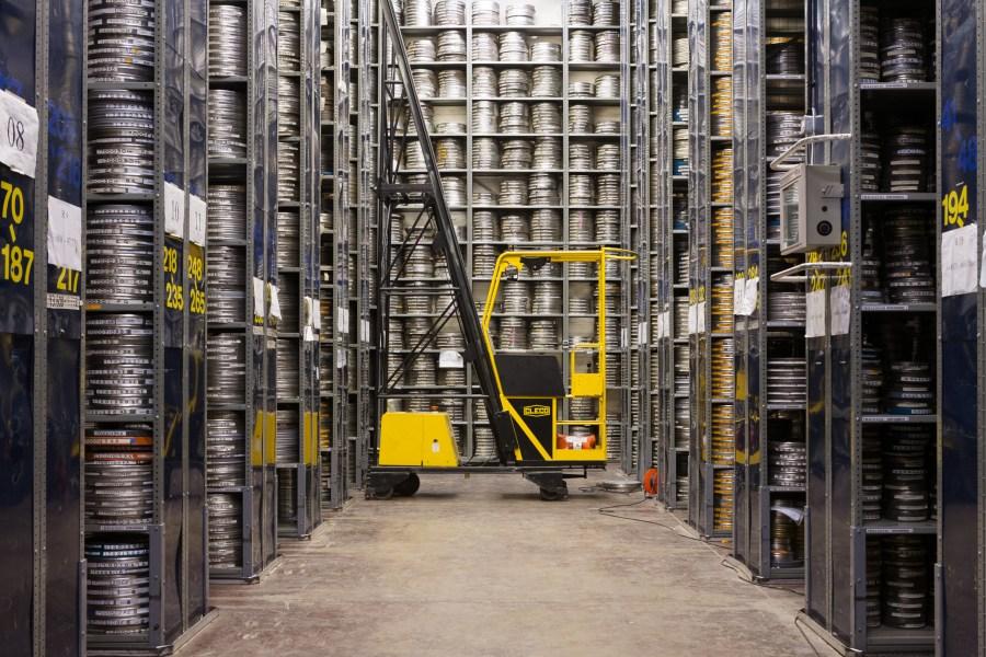 Endless high shelves of film