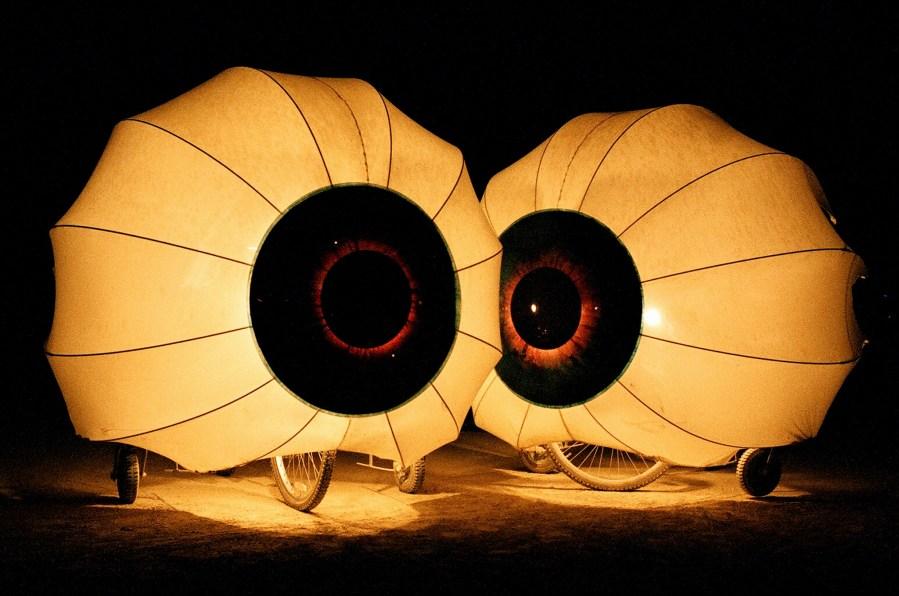 Burning Man 2005 eye ball bikes by Kevin Meredith