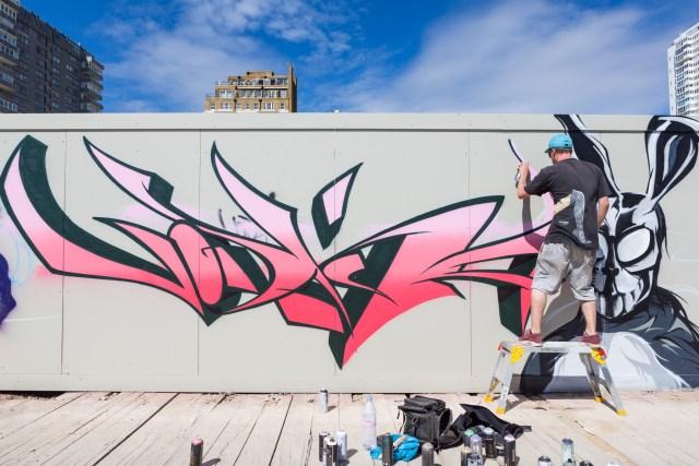 Graffiti artist Vodka