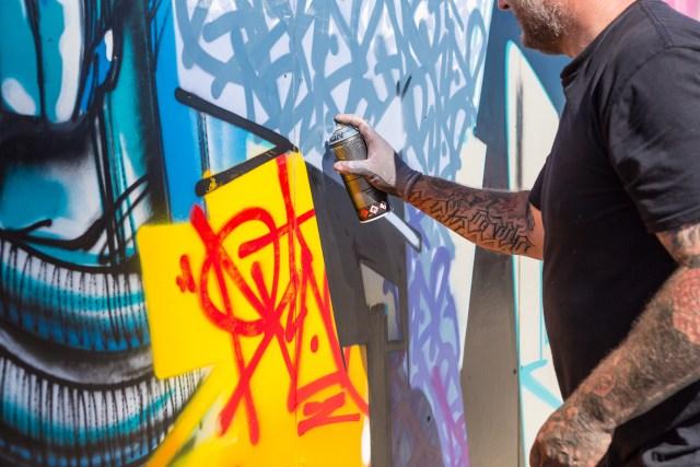 Graffiti artist  Areo