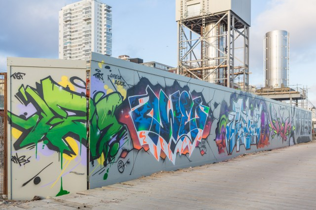 Graffiti by Art work by: 192, Owed, and Rebus.
