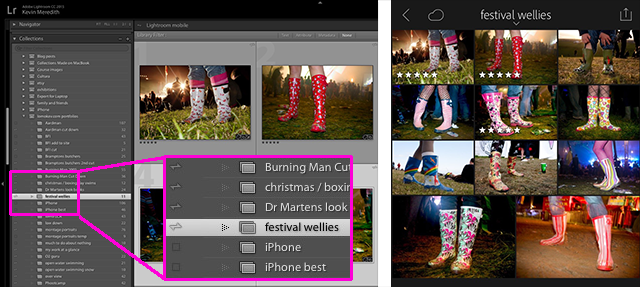 Syncing images to phone Lightroom mobile tip.