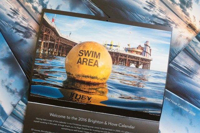 Swim Area boy photo by Kevin Meredith in the 2016 Brighton and Hove Calendar