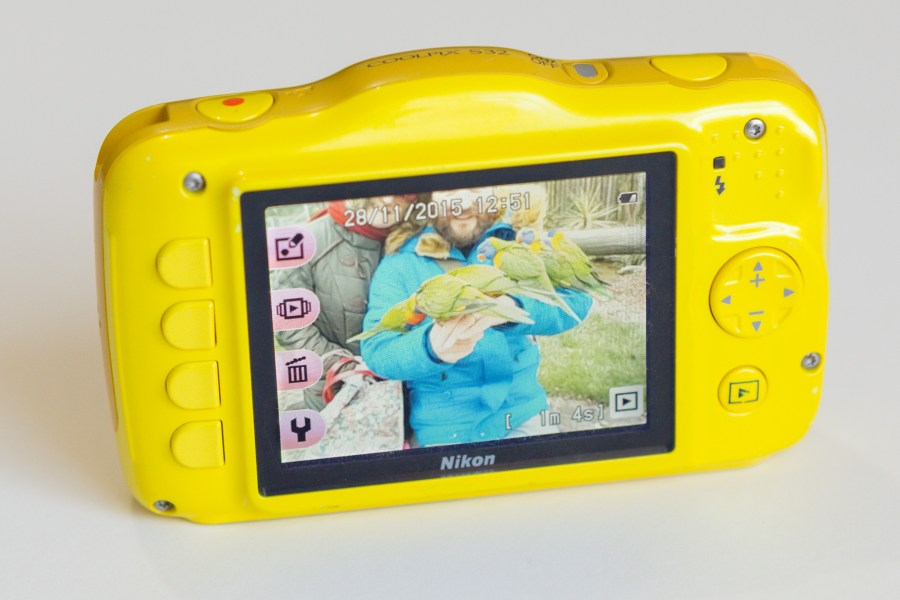 The Nikon Coolpix s32 Back