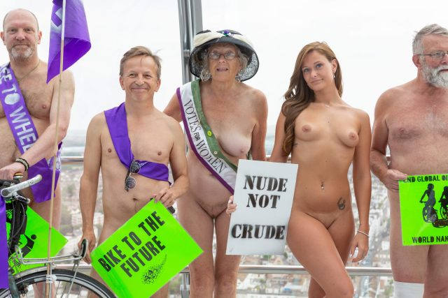 Naked Cyclists on the British Airways i360