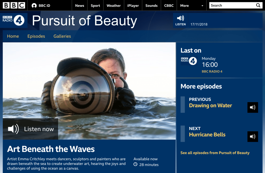 Pursuit of Beauty: Art Beneath the Waves presented by Emma Critchley