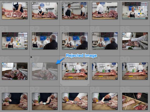 rejected image in Adobe lightroom