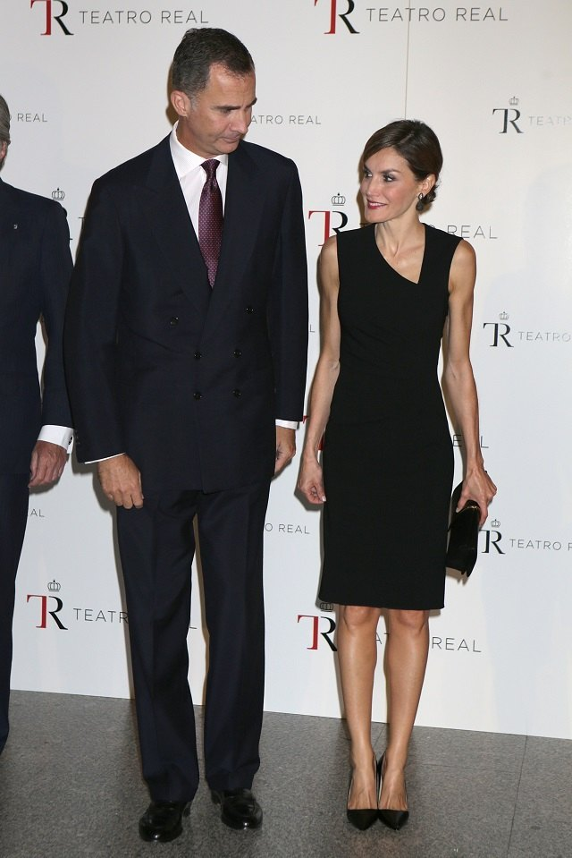 Spanish Kings Felipe VI and Letizia Ortiz attend the opening of the season of the Royal Theatre in Madrid, on Tuesday 22 September, 2015.