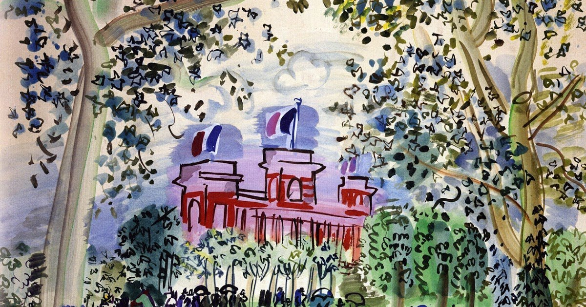 Dufy_ThePaddock+At+Deauville_1930