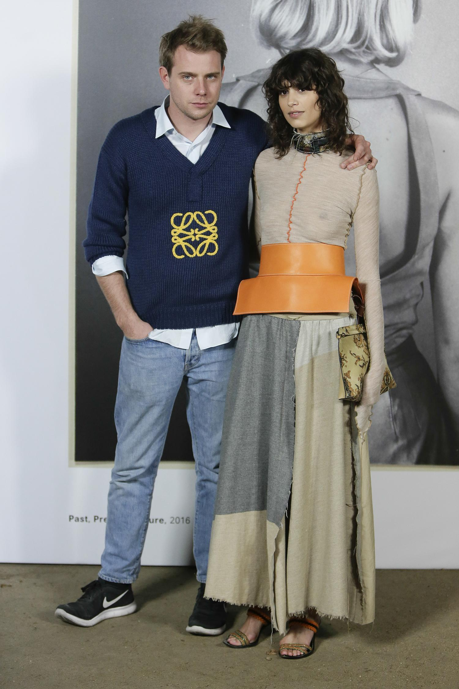 Jonathan Anderson y Steffy Argelich during the inauguration of the exhibition Loewe in Madrid on Thursday 17 November 2016 17/11/2016 Madrid