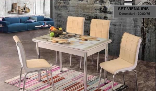Set masa extensibila cu 4 scaune Viena