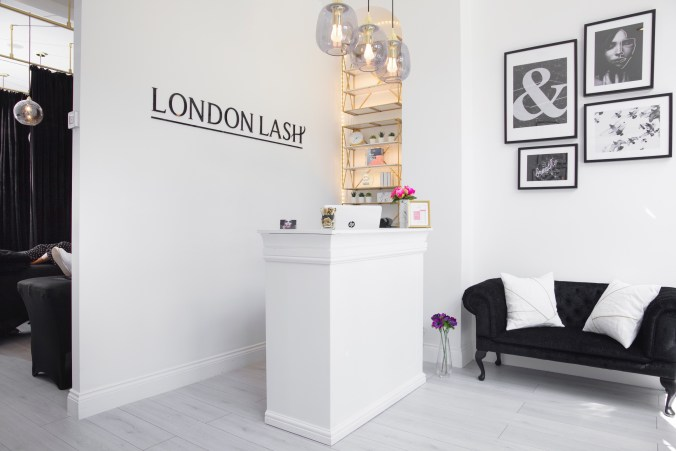 London Lash studio in central London, offering eyelash extension services