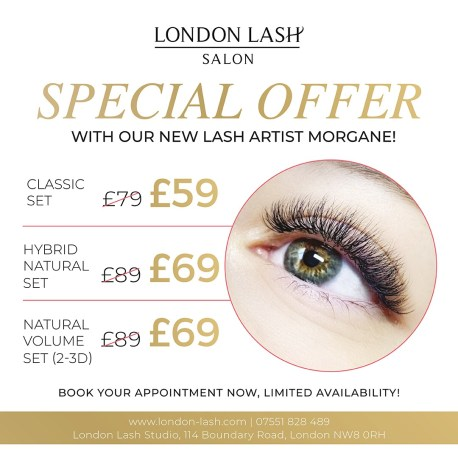 special offer, eyelash extensions London