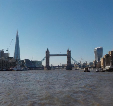 The River Thames passing through central London. Image copyright Chris Doble.