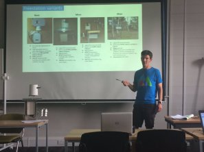DTP student David Smedley talks at Kings College. Image by Kelly Gunnell.