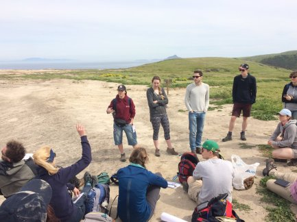 Learning about how Native Americans arrived on the Californian Channel Islands and what life was like. Image copyright Liam Fitzpatrick.