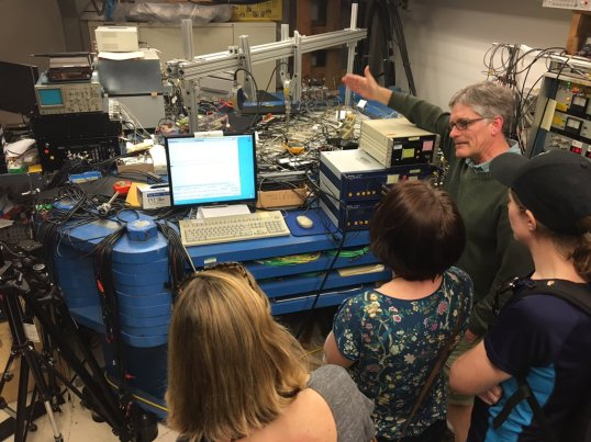 USGS Earthquake lab gave a fascinating tour of some of their facilities & demonstrated some of their ongoing research projects. Image copyright Paul Minton.