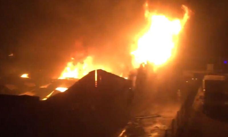 Fire Raged wrecks Building in Watford Reeds Industrial Estate