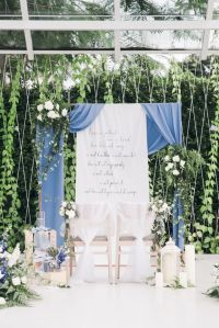 Dusty Blue Winter Theme Wedding by Le Conte Decor ...