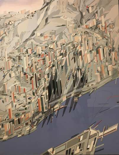 Zaha Hadid's exhibition, The Serpentine Gallery, London, painting, city, architecture