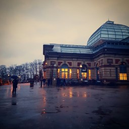 Alexandra Palace on the day my freshly foundationed face was pelted with rain