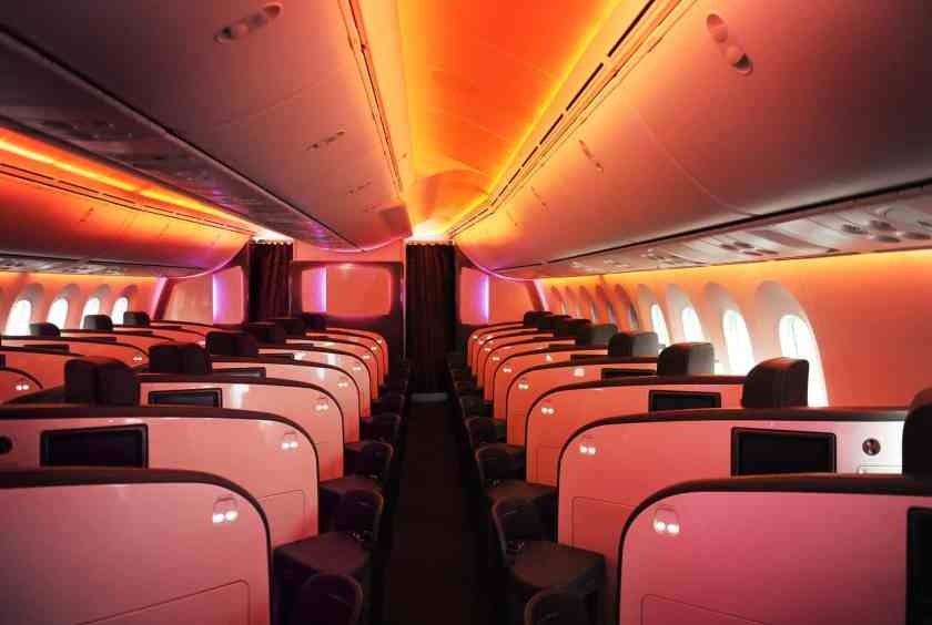 Virgin Atlantic Boeing 787-9 Dreamliner Upper Class Cabin (Credit: Virgin Atlantic)
