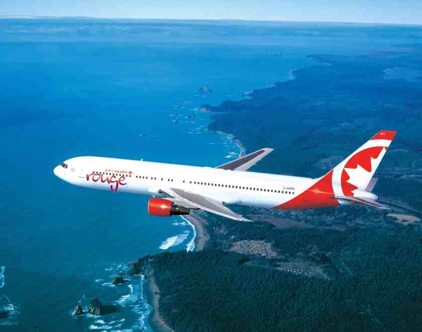 Air Canada Rouge Boeing 767-300 aircraft