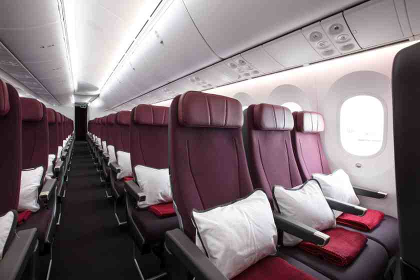 Qantas 787 Dreamliner Economy Cabin