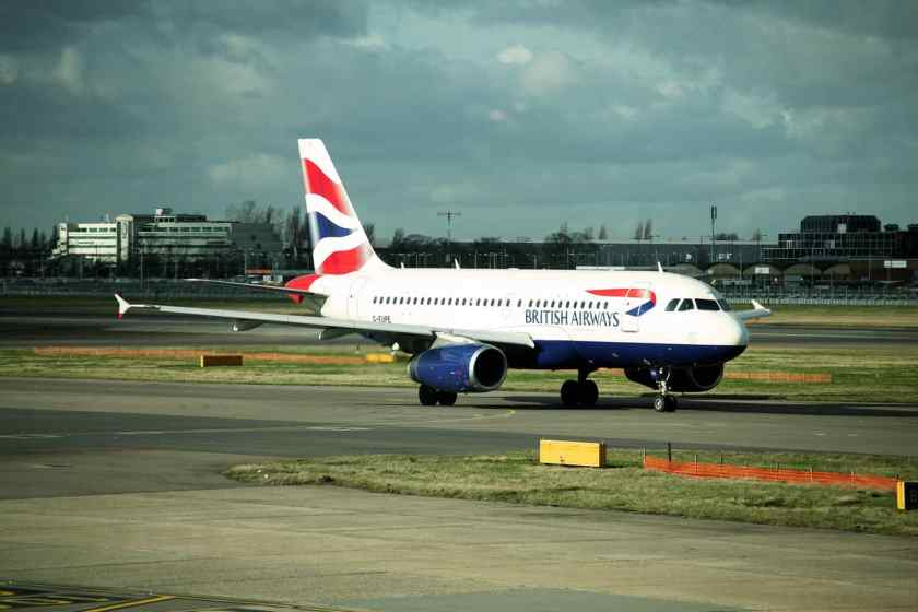 British Airbus A319 aircraft London Heathrow (Image Credit: British Airways)