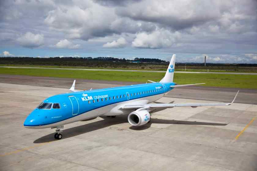 KLM Cityhopper Embraer E190 aircraft