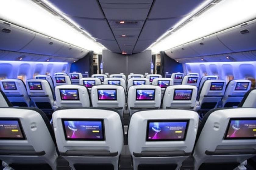BA World Traveller Plus cabin on LGW based Boeing 777 aircraft