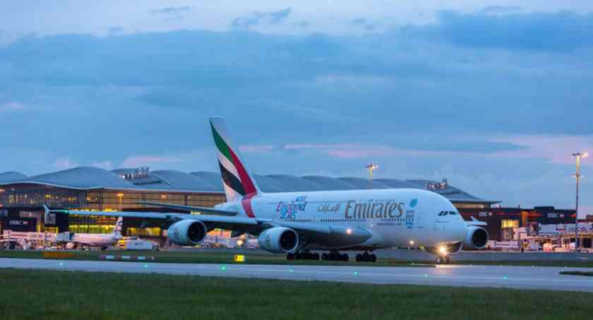 Emirates Airbus A380 Heathrow