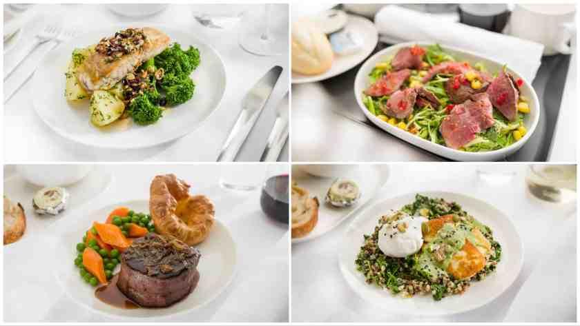 Sample Food on London Heathrow - Perth (Image Credit: Qantas)