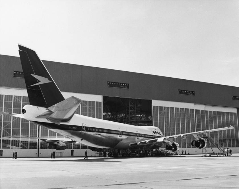 BOAC Boeing 747-136 aircraft