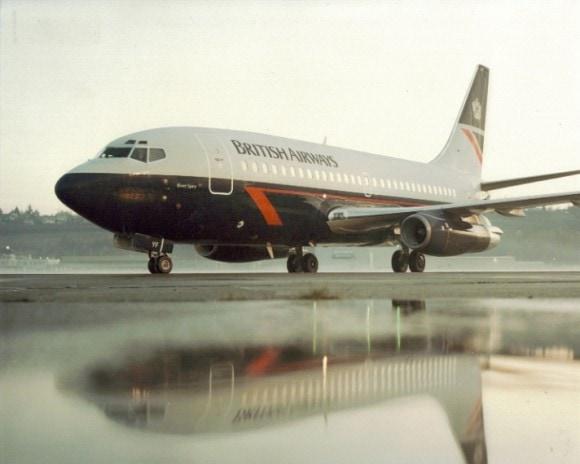 British Airways Boeing 737 in Landor livery