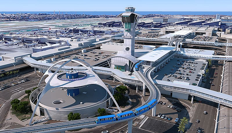 Los Angeles Proposed People Mover (Image Credit: Los Angeles World Airports)