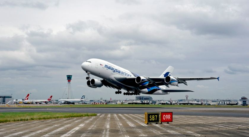 Malaysia Airlines Airbus A380 London Heathrow
