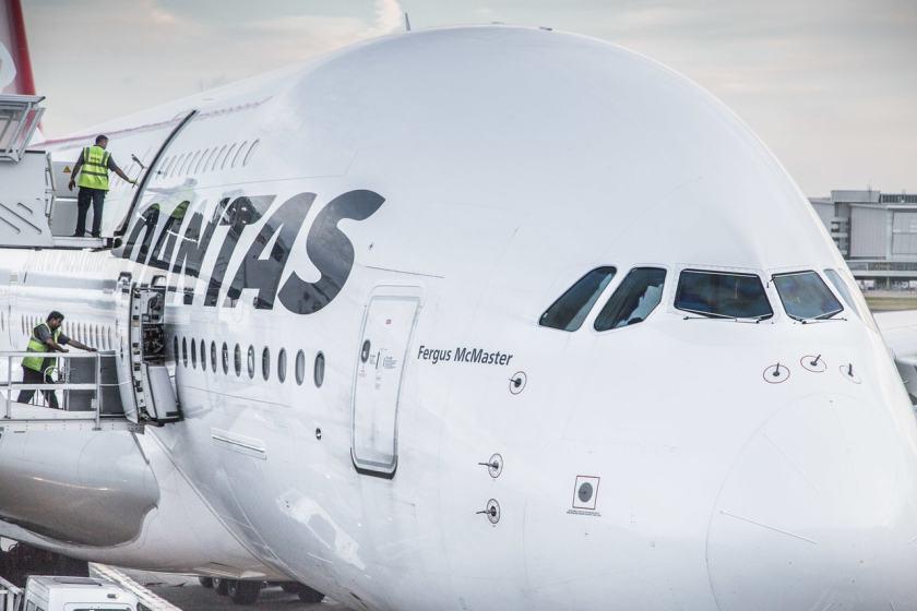 Qantas Airbus A380 at London Heathrow Terminal 3 (Image Credit: Heathrow)