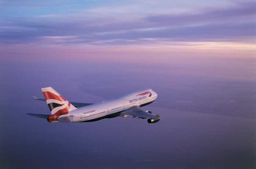 BA Boeing 747 approaching the coast (Image Credit: British Airways)