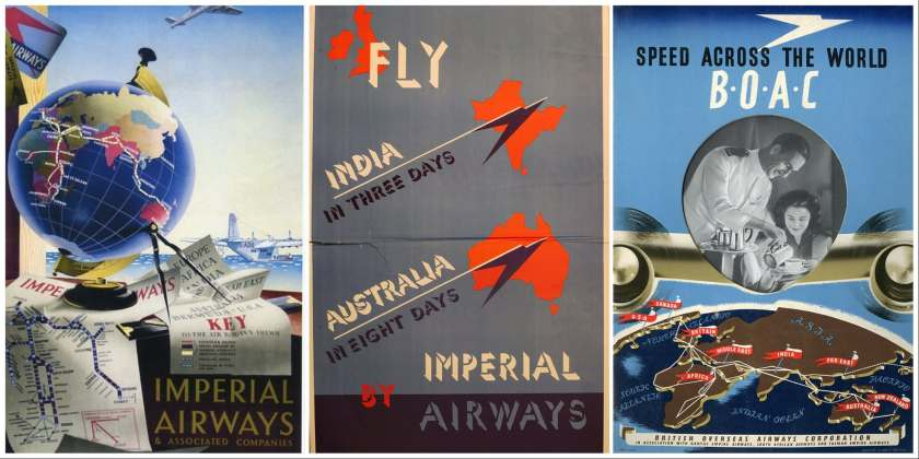 British Airways 100 Years Of Aviation Posters (Image Credit: Amberley Publishing)