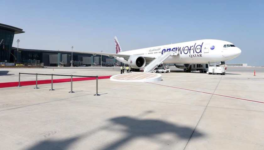 Qatar Airways aircraft in Oneworld livery