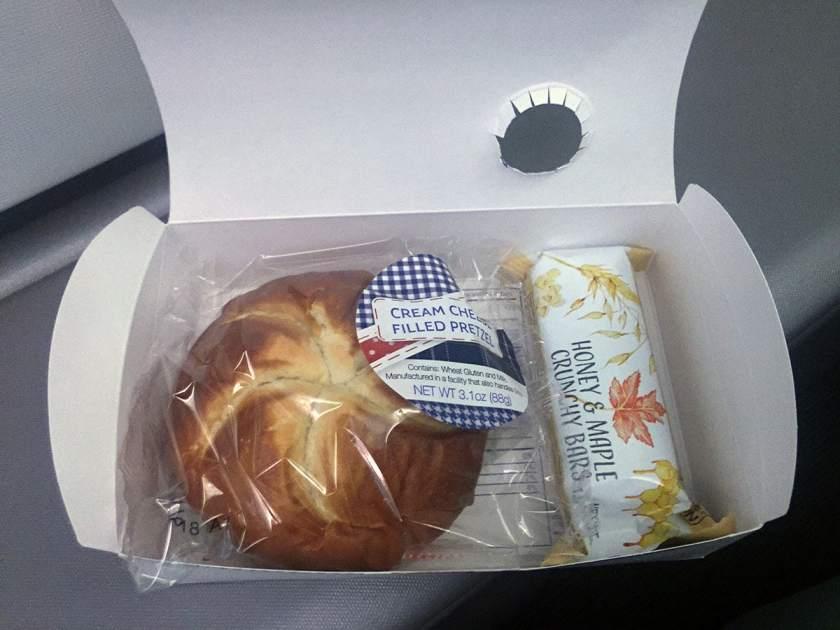 BA World Traveller Plus Breakfast Miami - London Heathrow