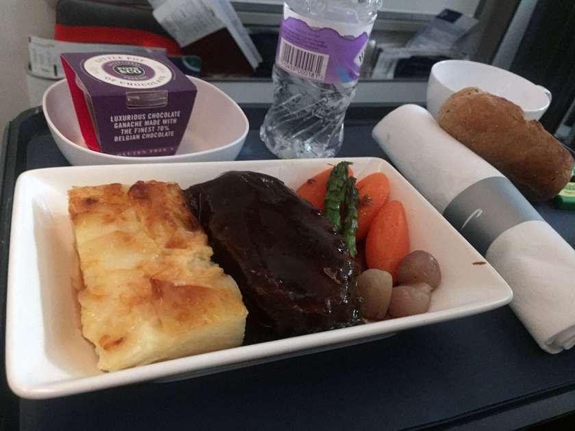 BA World Traveller Plus Meal London Heathrow - New York JFK