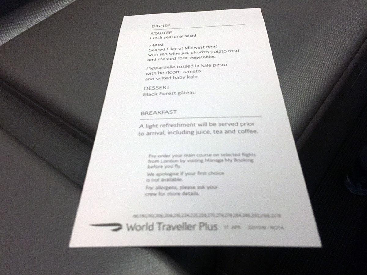 Flying British Airways World Traveller Plus – London Air Travel