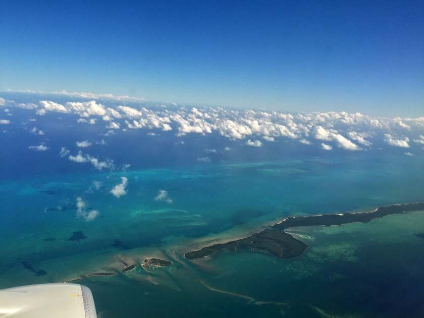 View mid-flight flying from Key West to Miami