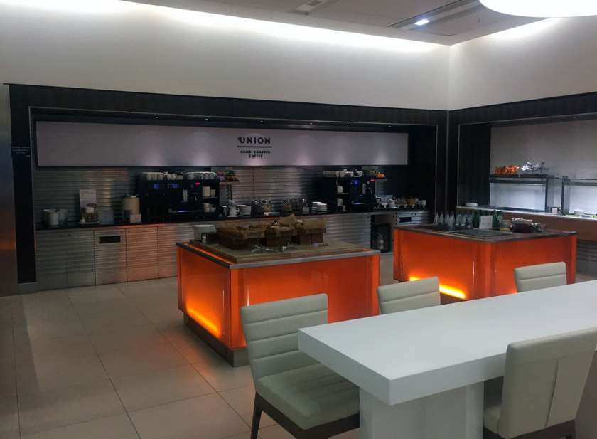 BA London Heathrow Terminal 5 Arrivals Lounge Breakfast Buffet Area (Image Credit: London Air Travel)